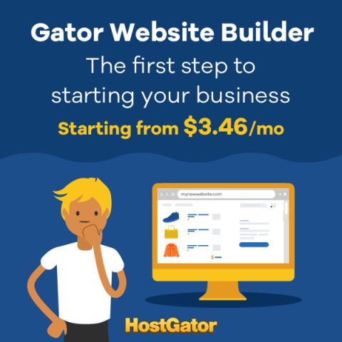 HostGator website builder promotion for your business
