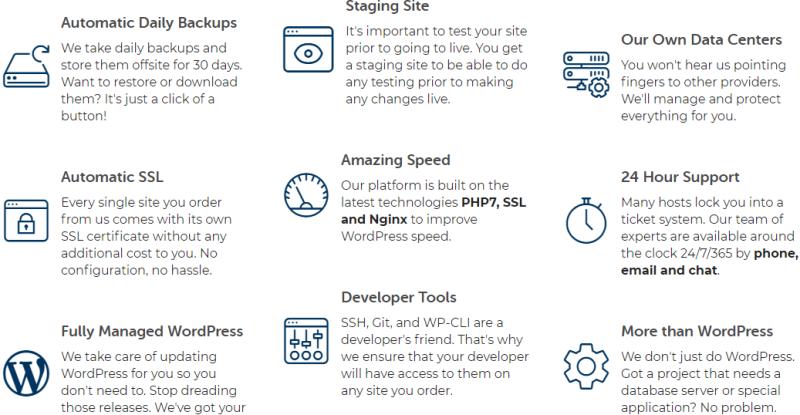 Liquid Web managed WordPress features