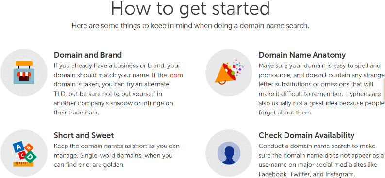 Things to know when doing a domain name search