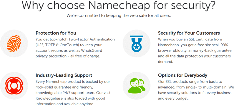 Why choose Namecheap for security